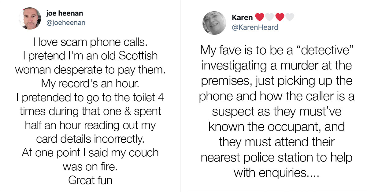 People Reveal The Methods They Use To Deal With Scam Callers And They're Absolutely Hilarious And Creative
