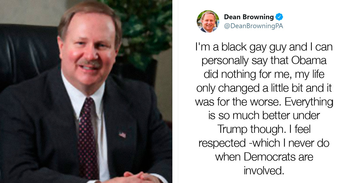White Republican Politician Tweets As A 'Gay Black Trump Supporter' When He Forgets To Switch To His Fake Account