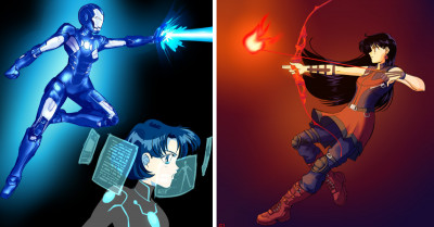 Sailor Scouts Assemble In This Incredible Sailor Moon And Avengers Mash-Up Artwork