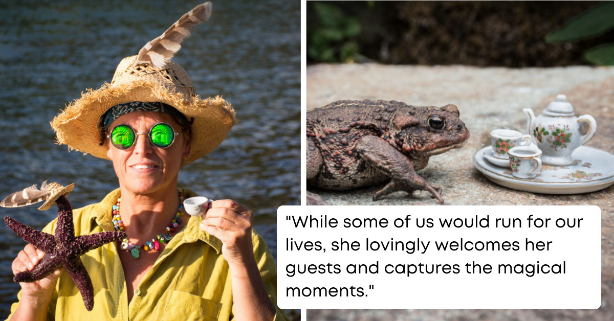 Nature-Loving Woman Hosts Magical Tea Parties With Different Animals