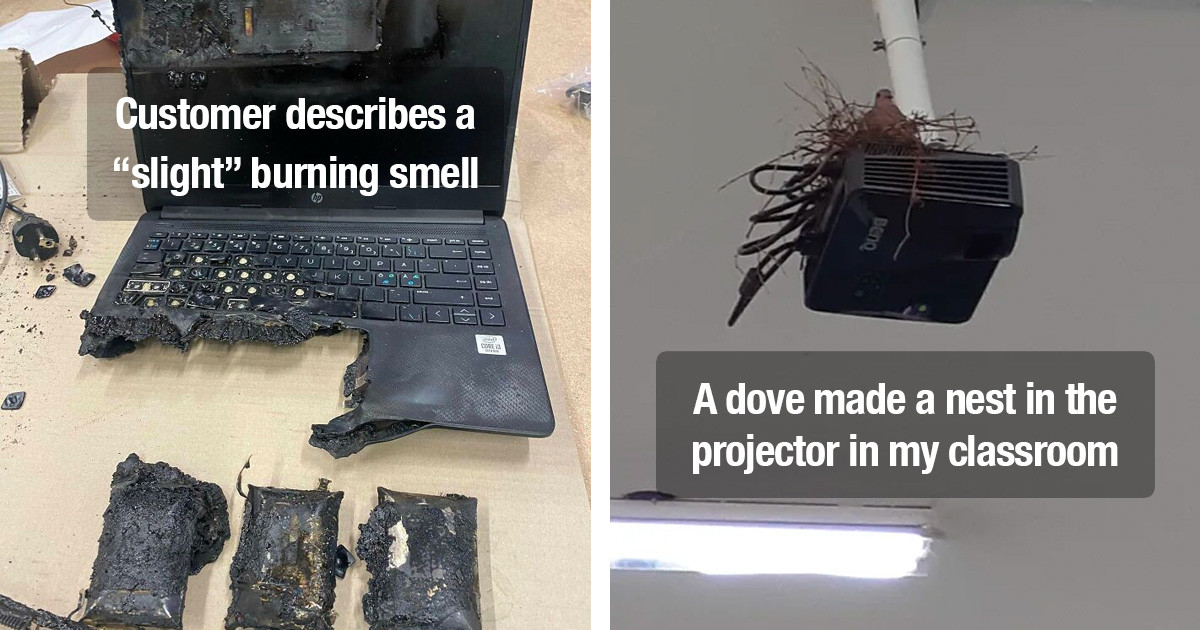 50 Photos Of The Worst Cases Tech Support Had To Handle