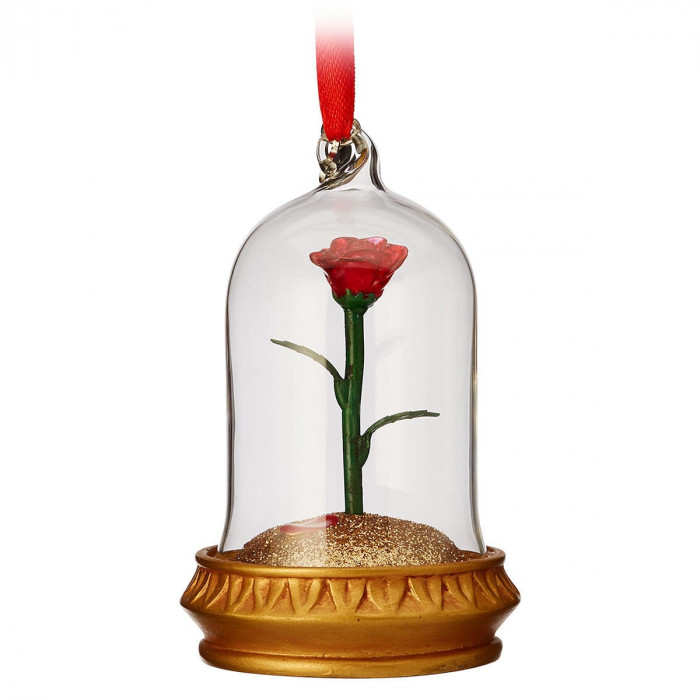 Enchanted Rose Light-Up Sketchbook Ornament - Beauty and the Beast for $19.95