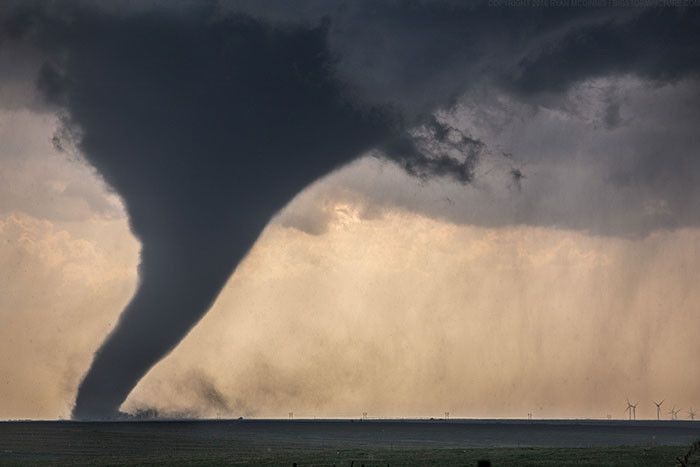 The Size Of A Tornado Compared To The Size Of Wind Turbines