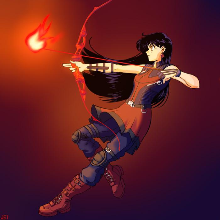 4. Sailor Mars as Hawkeye