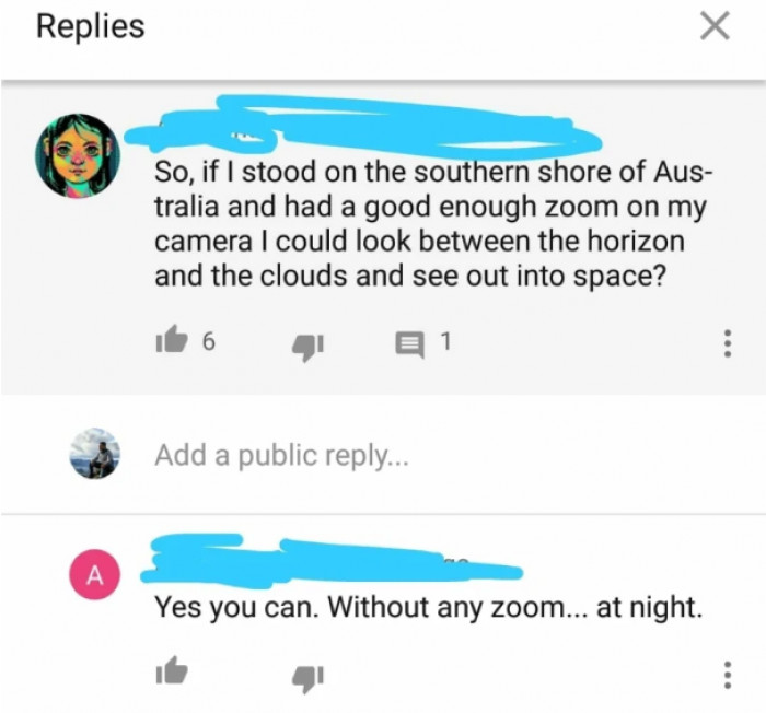 I love these peoples obsession with Australia. As someone who lives there, I find it quite flattering.