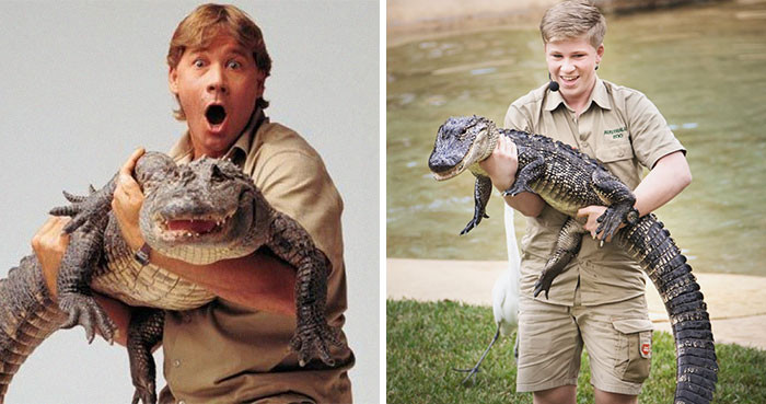 Of course we can't be viewing comparison pictures without some cuddly crocodile action!