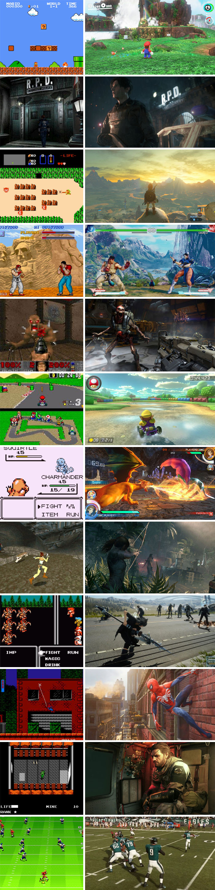 Video Game Graphics: Then And Now