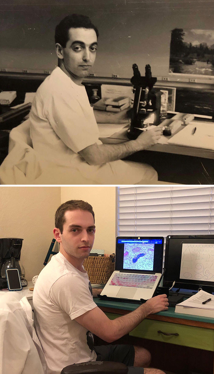 #5 Both in Med school, 70 years apart. Grandfather vs Grandson.