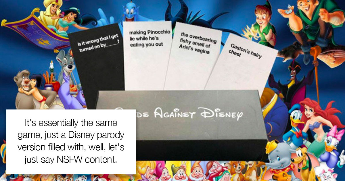 The New Cards Against Disney Game Is Out Now And It's 100% NSFW