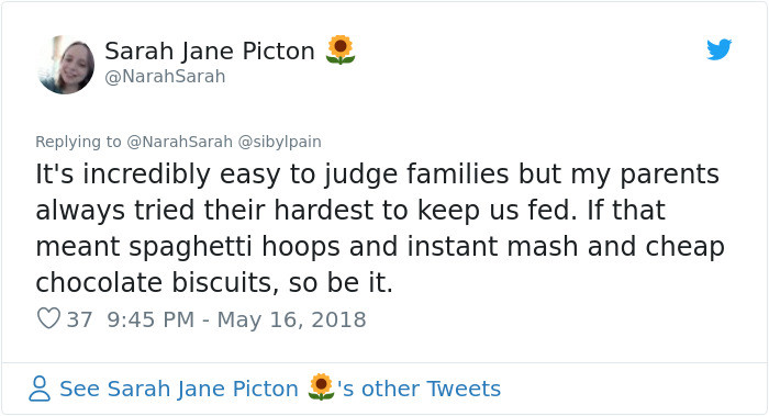 Judging does nothing but further stigmatise the poor.