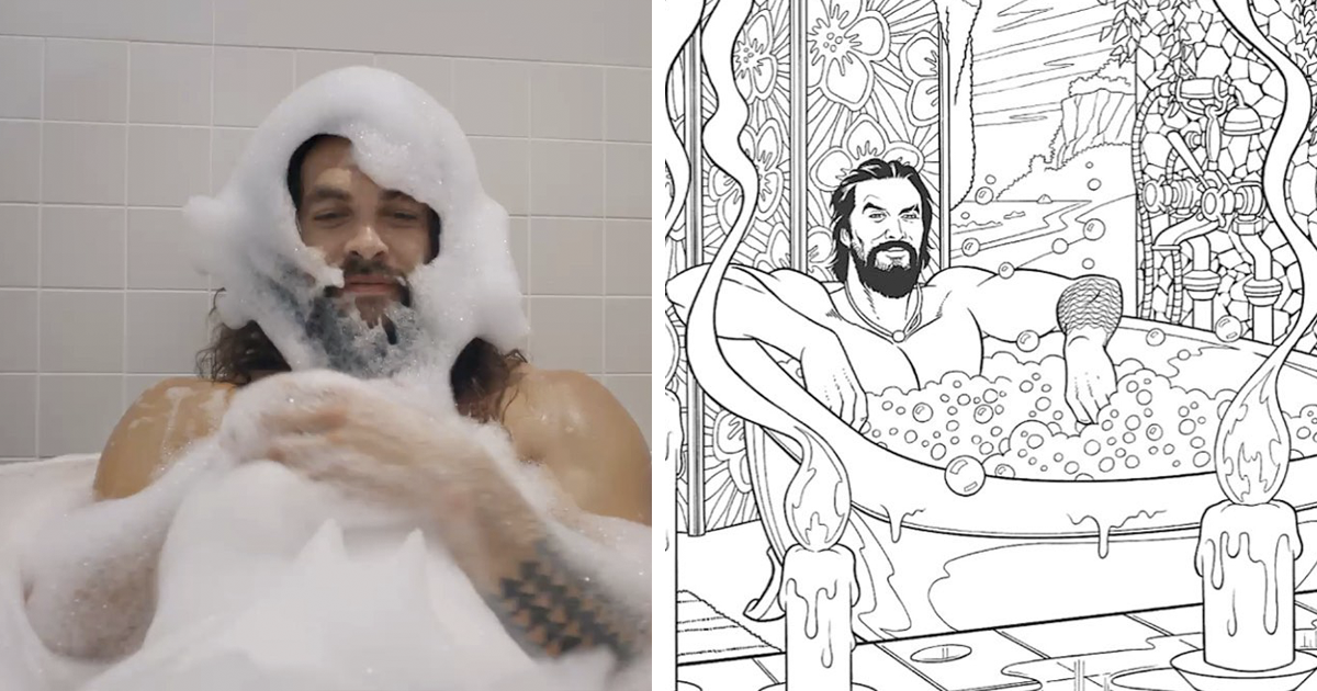 PSA: There Is A 'Jason Momoa Coloring Book' And It's Guaranteed To Ease All Your Stress