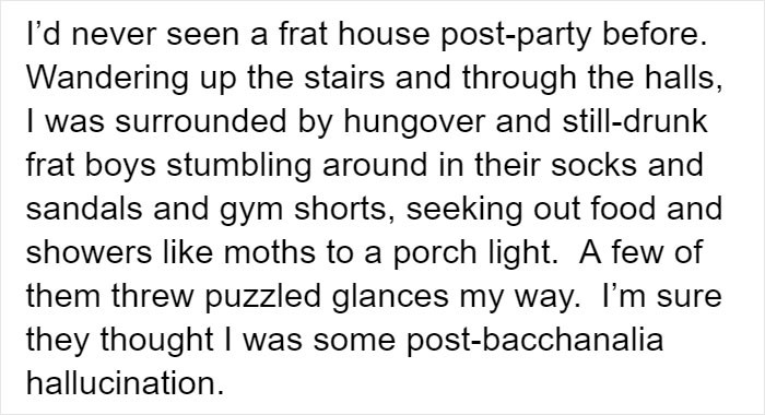 Post party frat house