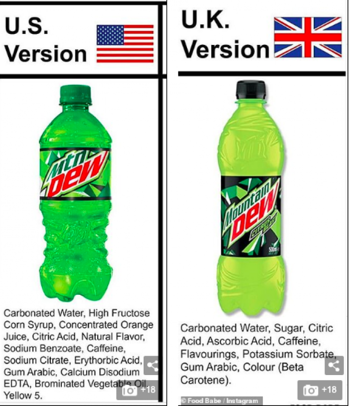 Next up! Good ol' Mountain Dew! Gross... Soda in general is so damn horrible for you!
