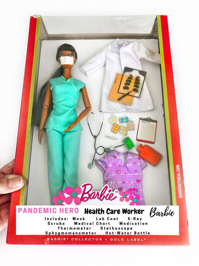 1. Pandemic Hero Barbie – Health Care Worker