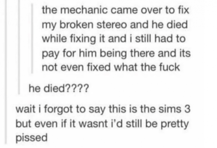 11. Oh, it's Sims.