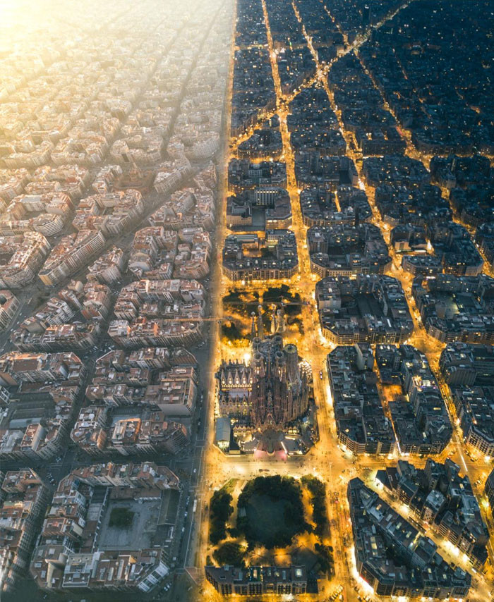 Barcelona During The Day vs. During The Night