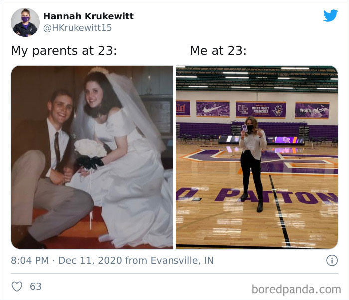 18. Everybodys' parents seems to marry pretty young...