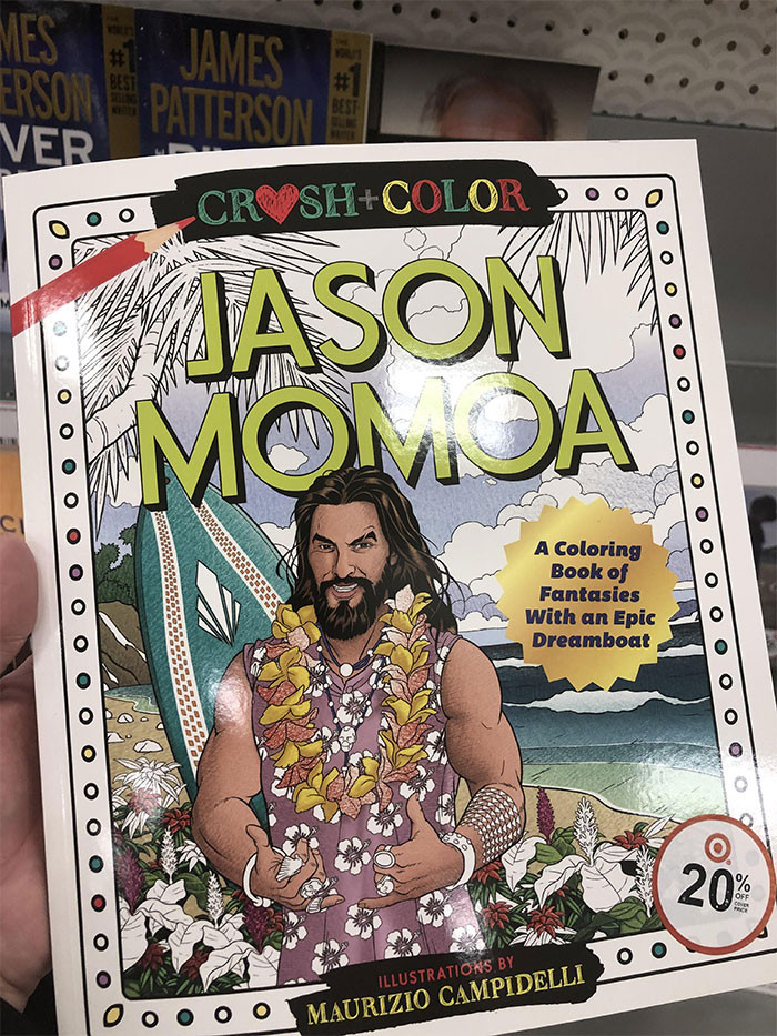 And THIS is the Jason Momoa coloring book!