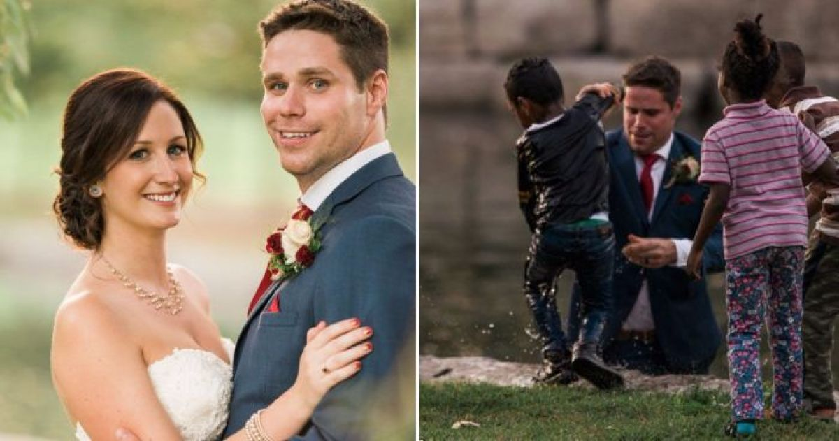 Groom Sacrifices His Wedding Suit To Save A Little Boys Life
