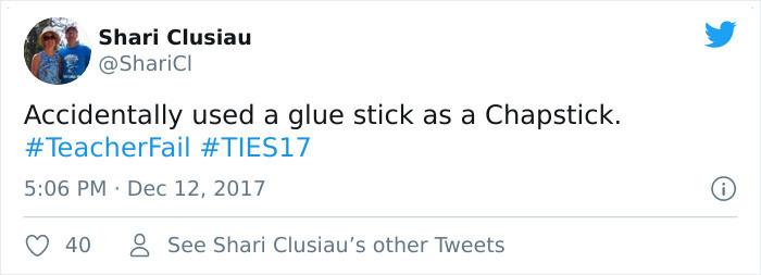 Chapstick fail.