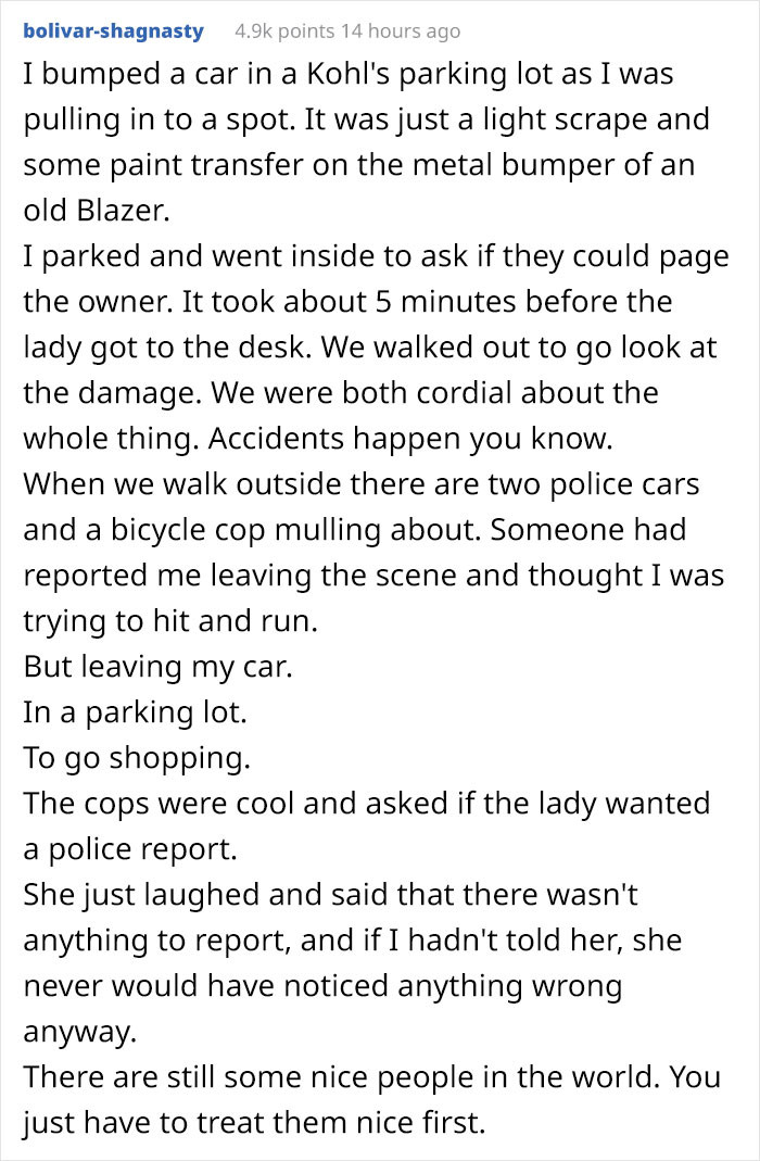 Redditors loved this concept and started sharing their own car accident stories!