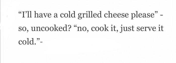 Cook it, then cool it! duh!