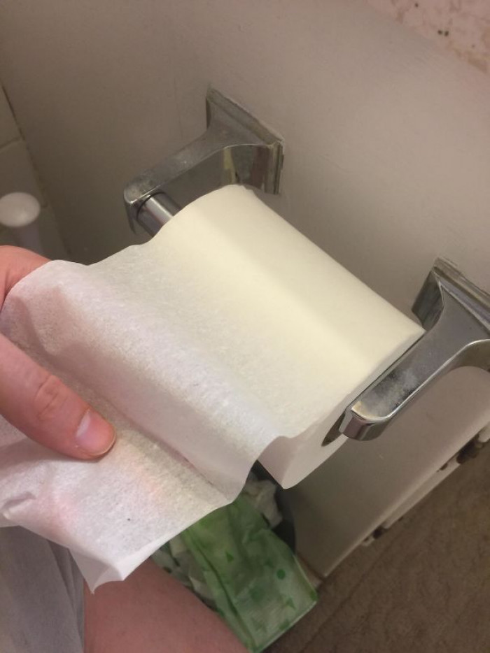 #29 My Wife Bought Toilet Paper For The First Time. One Ply.