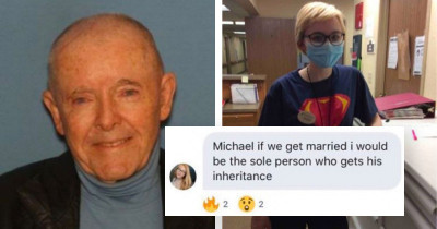 19-Year-Old Nurse Marries A 89-Year-Old Suffering From Dementia And Publicly Brags About The Money She Is Going To Inherit When He Dies