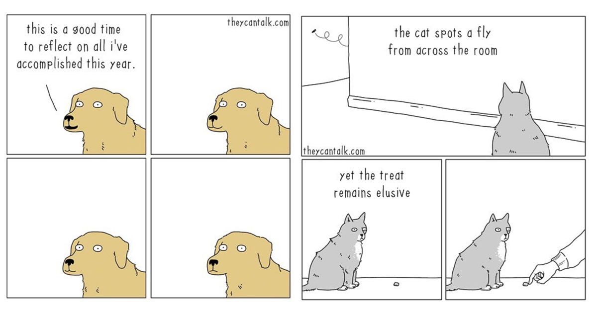 These Hilarious Comics Show The Kinds Of Conversations Animals Would Have If They Could Talk