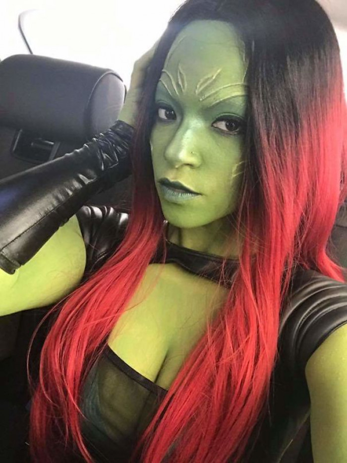 #24 My Friend Dressed Up As Gamora From Guardians Of The Galaxy