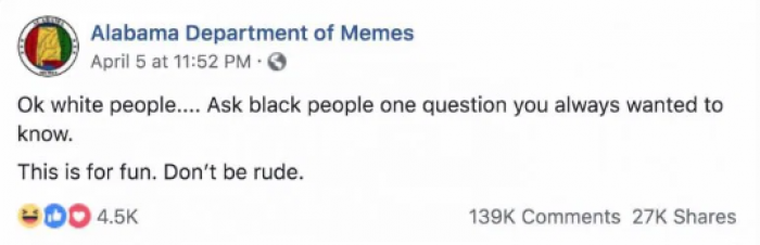 The original post: