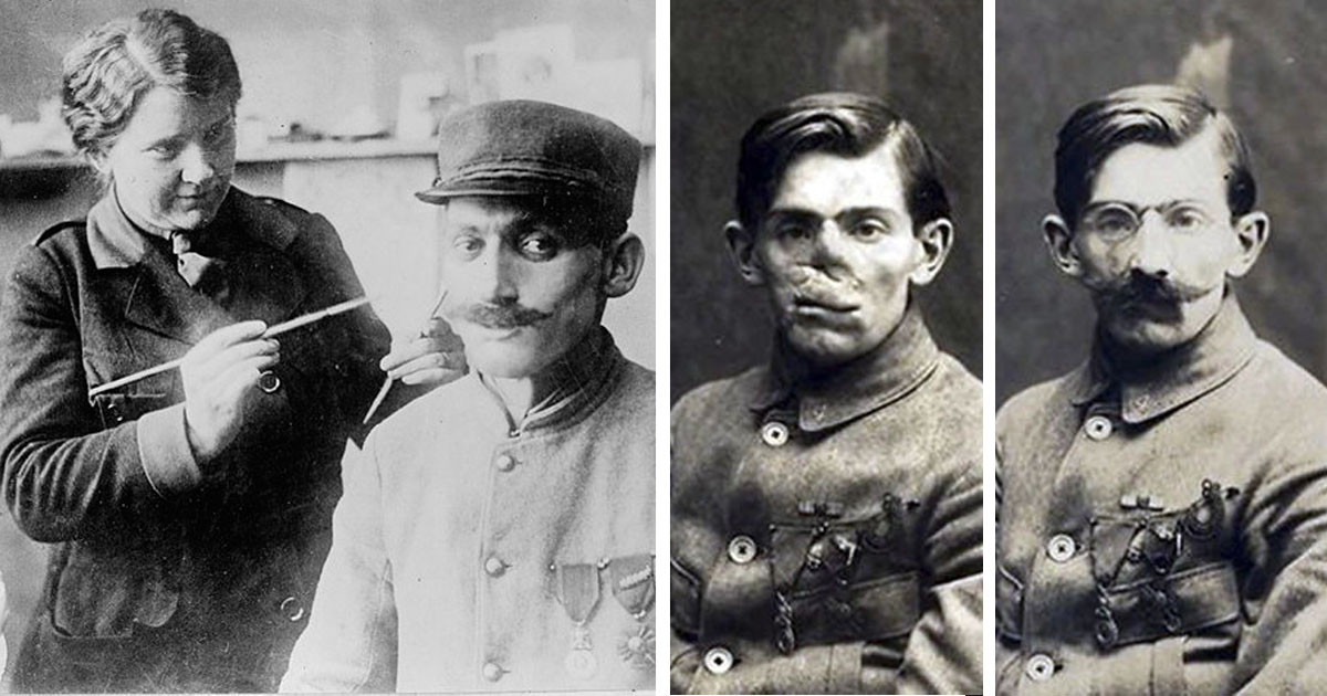 A Woman Made It Her Goal To Restore The Faces of Severely Injured WWI Veterans And It Is The Coolest Thing