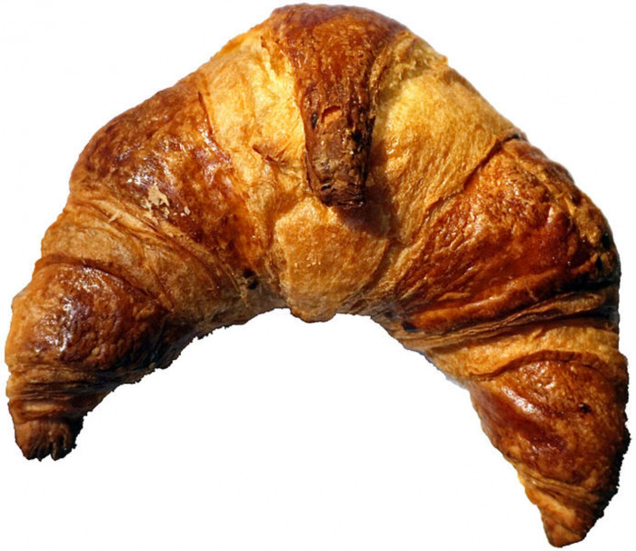 The only mystery in it was the fact that how did this croissant get up there. However, it could not be found out.
