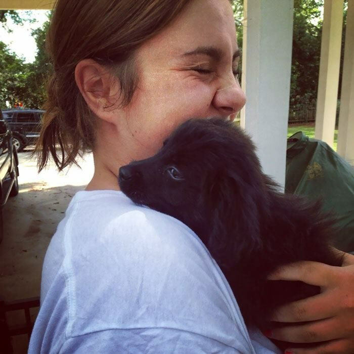 """""""After 6 months of being depression free, I adopted my new best friend! Everyone, meet Gilly."""""""