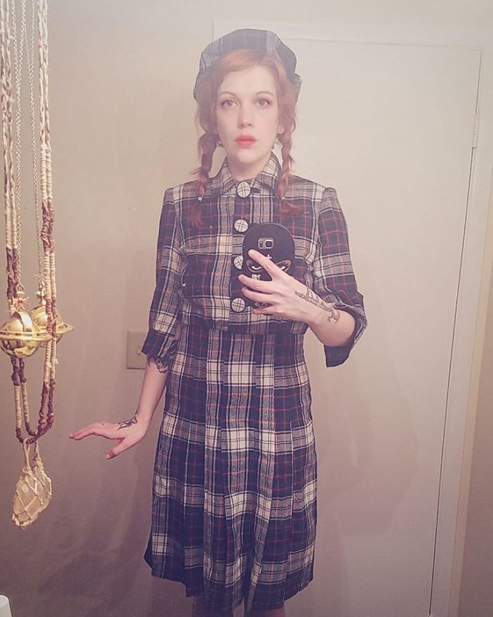 Her grandmothers uniform from the 1940s!