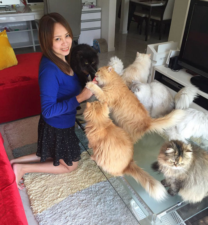 Michelle with her babies