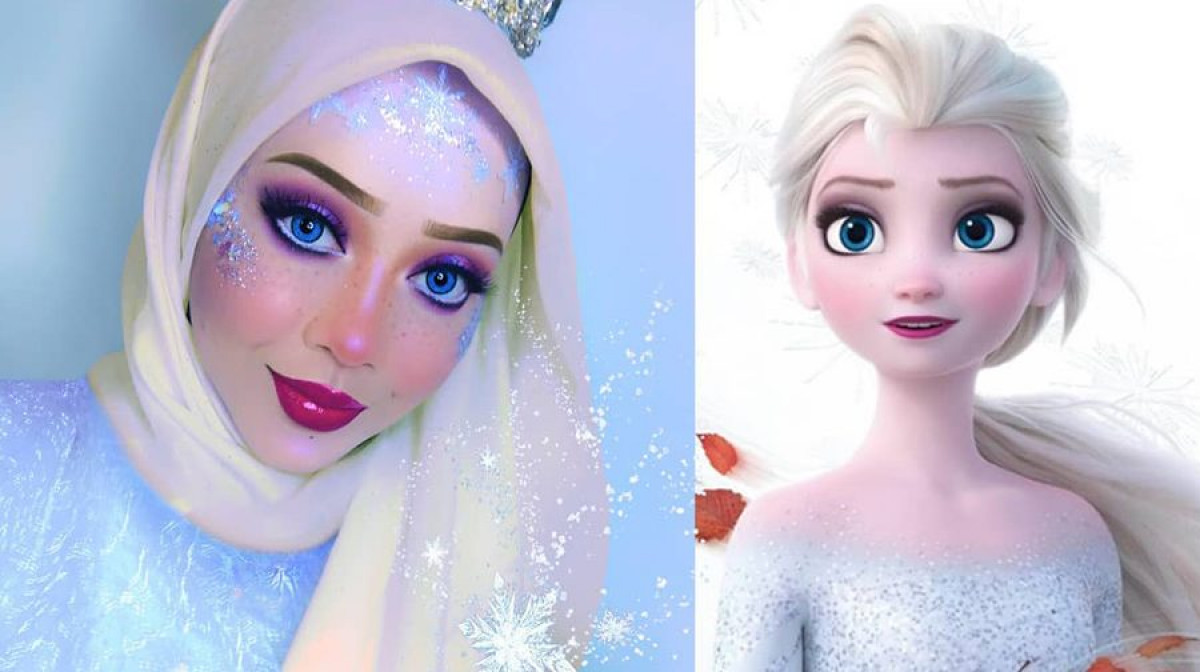 Muslim Makeup Artist Cleverly Uses Her Hijab To Transform Herself Into Disney Characters