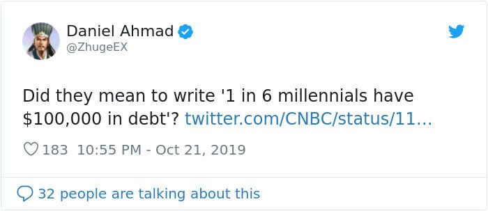 Savings? Did you mean debt?