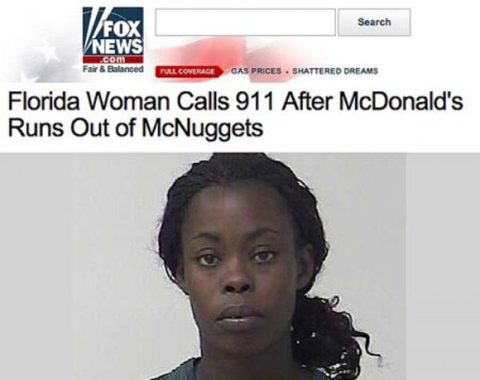 24. No chicken nuggets is definitely a reason to call the police