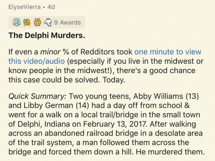 5. The Delphi Murders