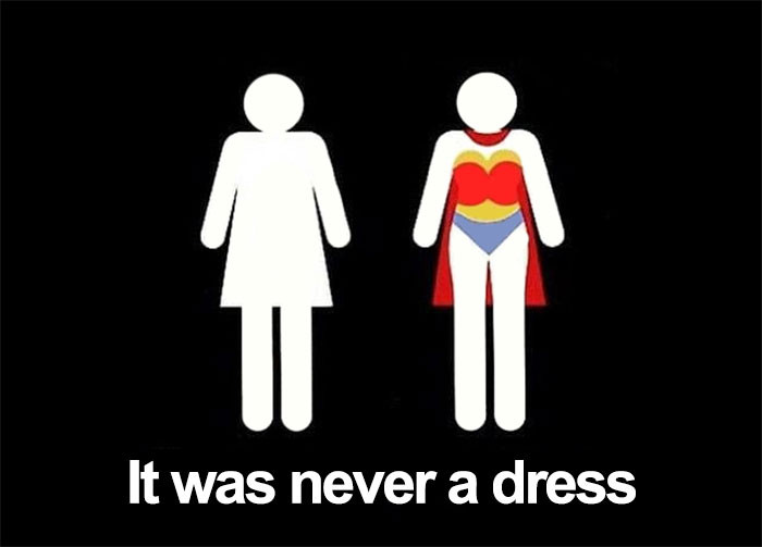 4. It was never a dress