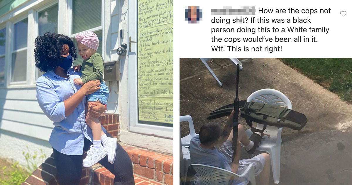 Community Stepped Up To Help Black Single Mother After Her Neighbors Had Been Racially Harassing Her