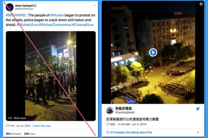 12. Are the people of Wuhan prrotesting in the streets?