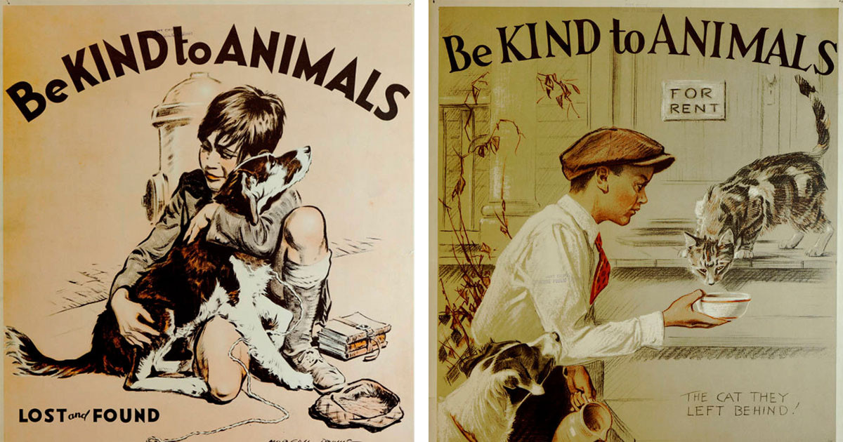 Posters From The 1930s That Promote Kindness To Animals Are Wholesome AF