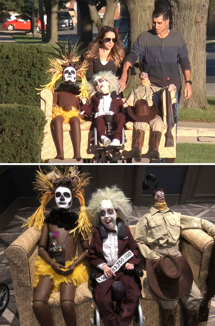 #1 9-Year-Old With Cerebral Palsy Dresses Up As Beetlejuice For Halloween