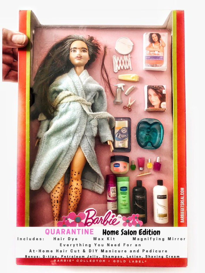 5. Quarantine Barbie – Home Salon Edition