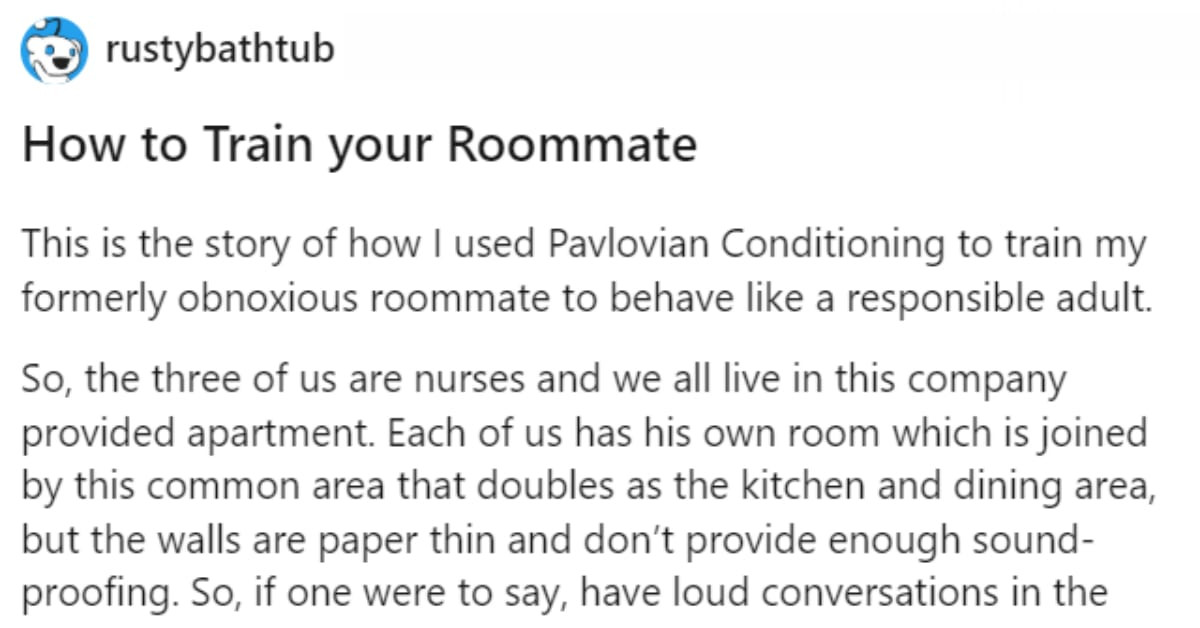 Man Uses WiFi To Covertly Train His Bad Roommate