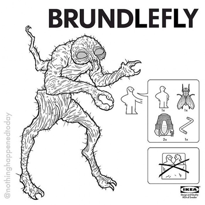 23. Brundlefly, yeah this is terrifying.