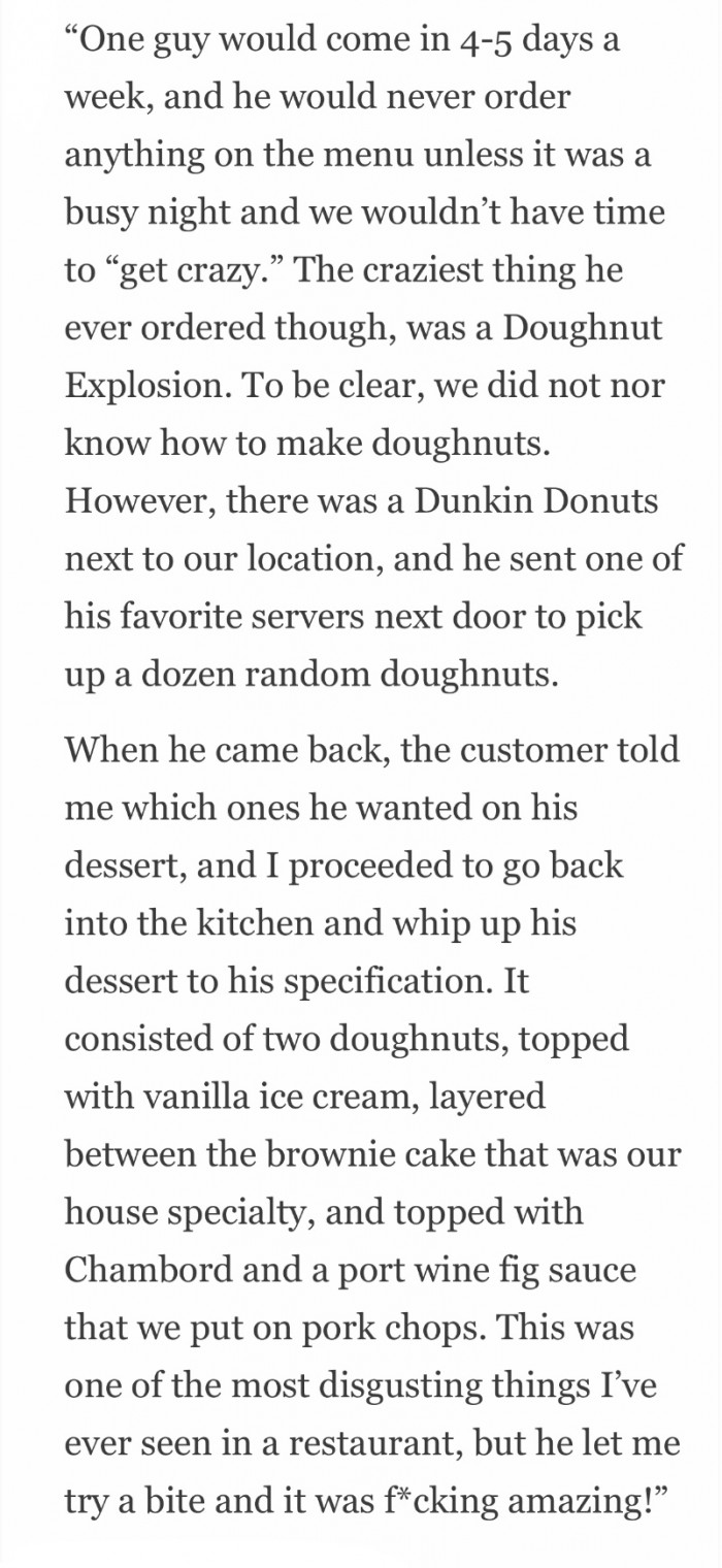 Dunkin Donuts, but not at Dunkin....