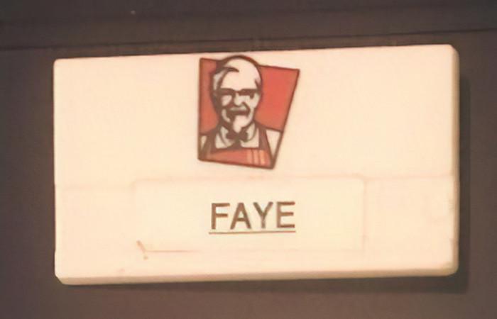 Faye's first job at 16